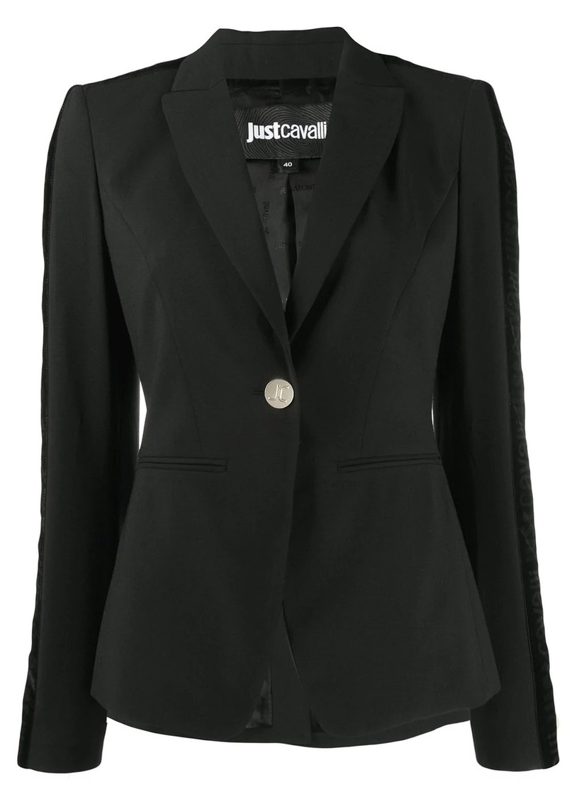 Just Cavalli velvet trim blazer