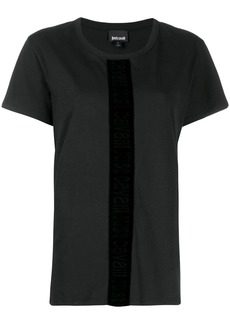 Just Cavalli velvet trim T-shirt