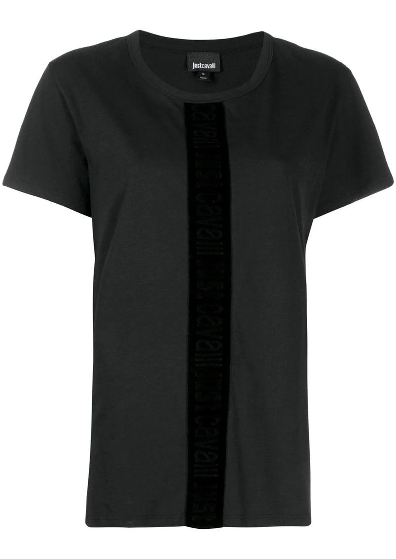 Just Cavalli velvet trim T-shirt