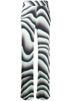Just Cavalli wave print straight-leg trousers