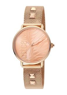 Just Cavalli Women's Analog Quartz Mesh Bracelet Watch, 32mm