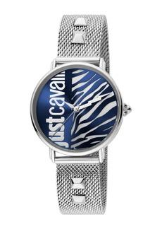Just Cavalli Women's Animal Mesh Strap Watch & Bracelet Set, 32mm