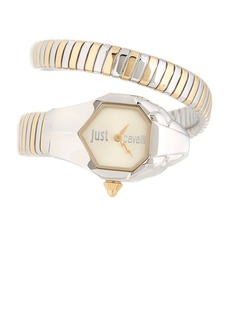 Just Cavalli Women's Glam Chic Two-Tone Cuff Watch, 22mm