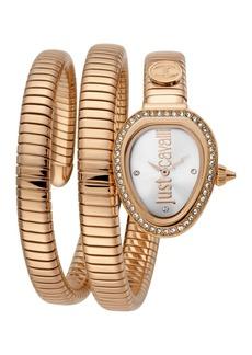 Just Cavalli Women's Just Glam EVO 3 Wraparound Bracelet Watch, 23mm