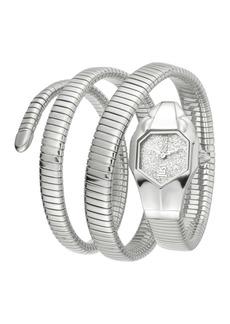 Just Cavalli Women's Triple Glam Analog Quartz Wrap Bracelet Watch, 22mm