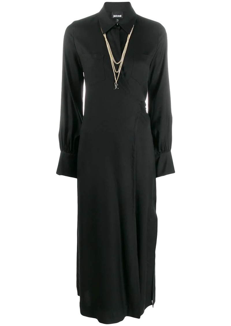 Just Cavalli wrap front shirt dress