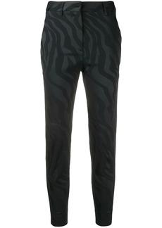 Just Cavalli zebra-jacquard trousers