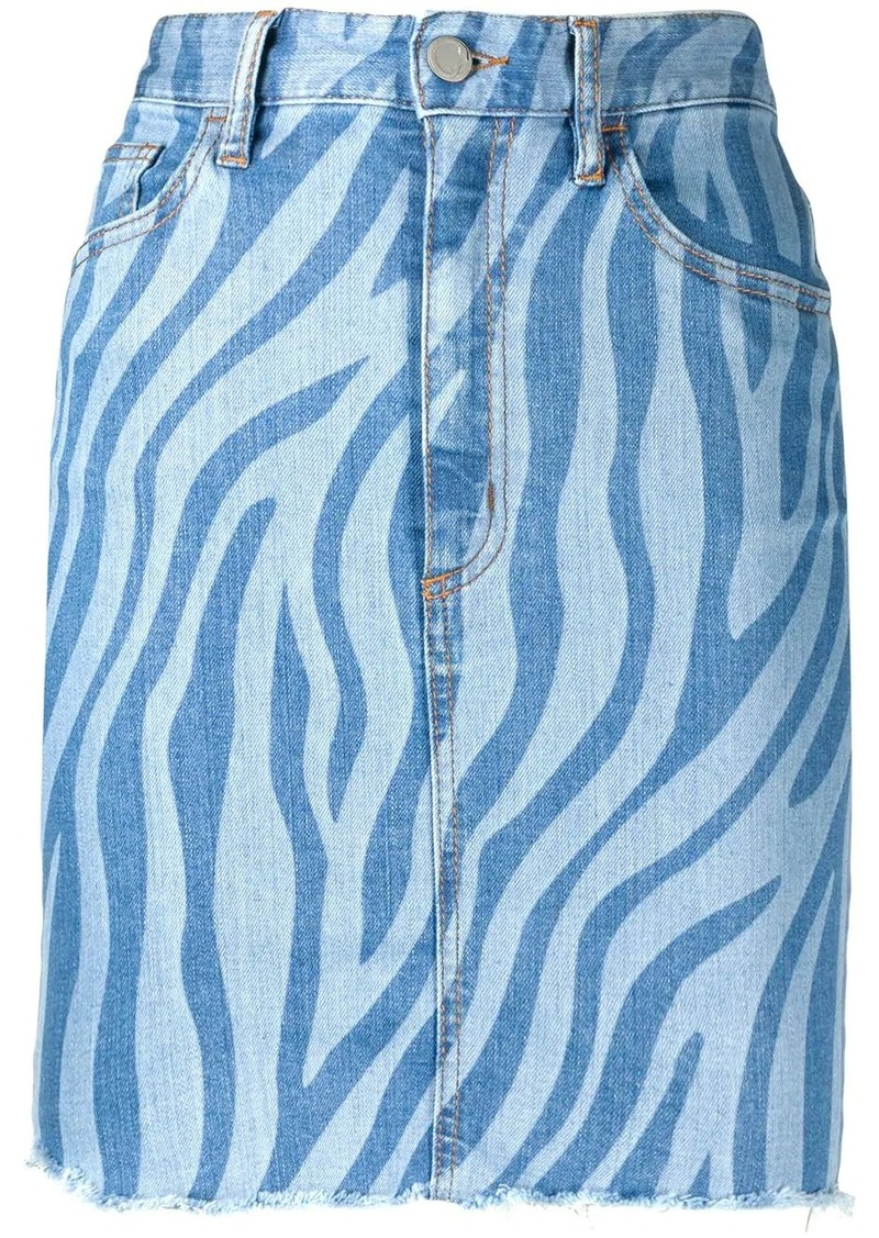 Just Cavalli zebra print denim skirt