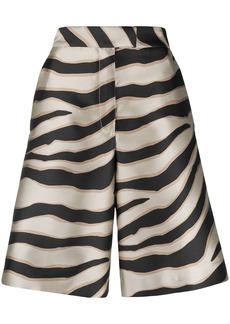 Just Cavalli zebra-print knee-lenght shorts