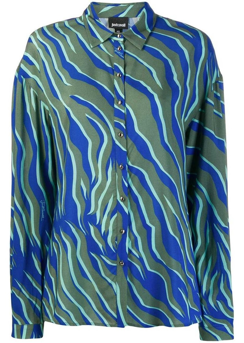 Just Cavalli zebra print oversized shirt