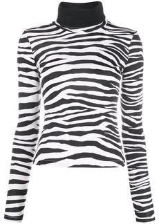 Just Cavalli zebra-print roll neck sweatshirt