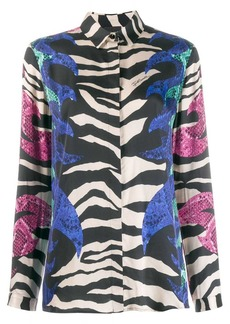 Just Cavalli zebra print shirt