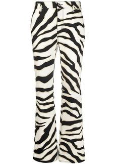Just Cavalli zebra-print slim-cut jeans
