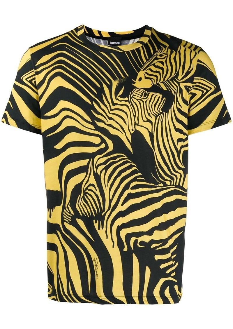Just Cavalli zebra print T-shirt