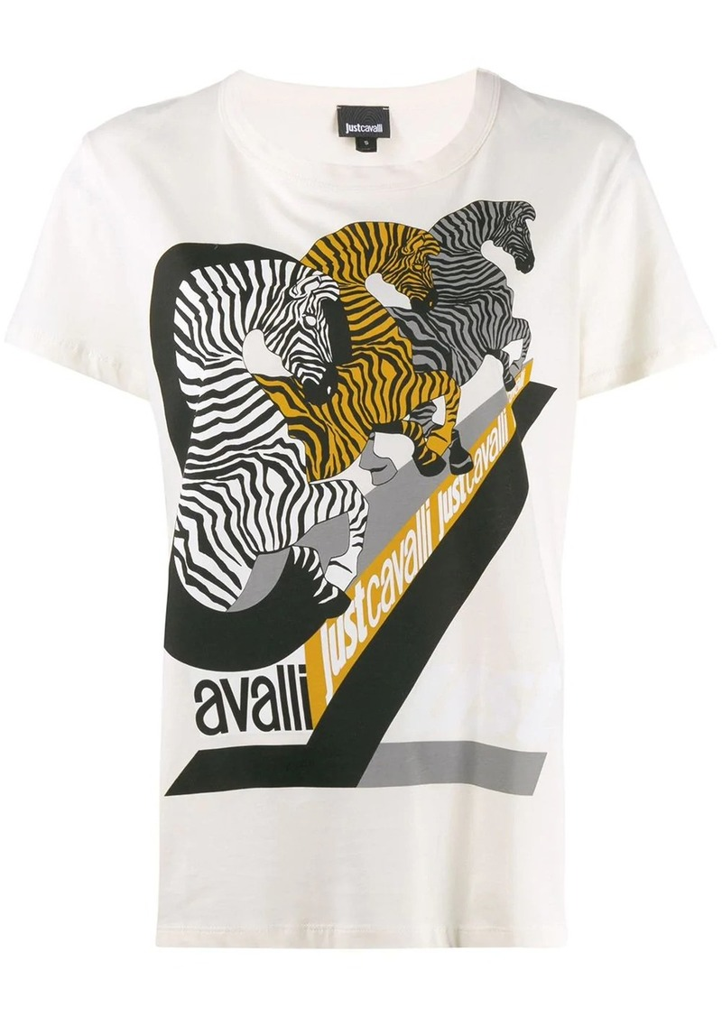 Just Cavalli zebra print T-shirt