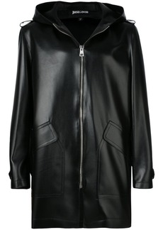 Just Cavalli zipped hooded coat