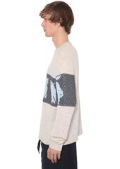 JW Anderson Animal Logo Wool Blend Knit Sweater