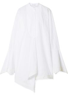 JW Anderson Asymmetric Washed Cotton-poplin Top