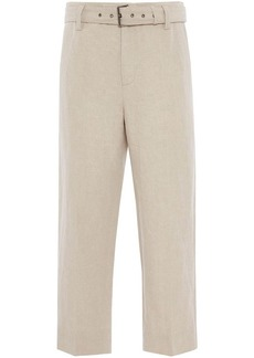 JW Anderson belted cropped straight-leg trousers