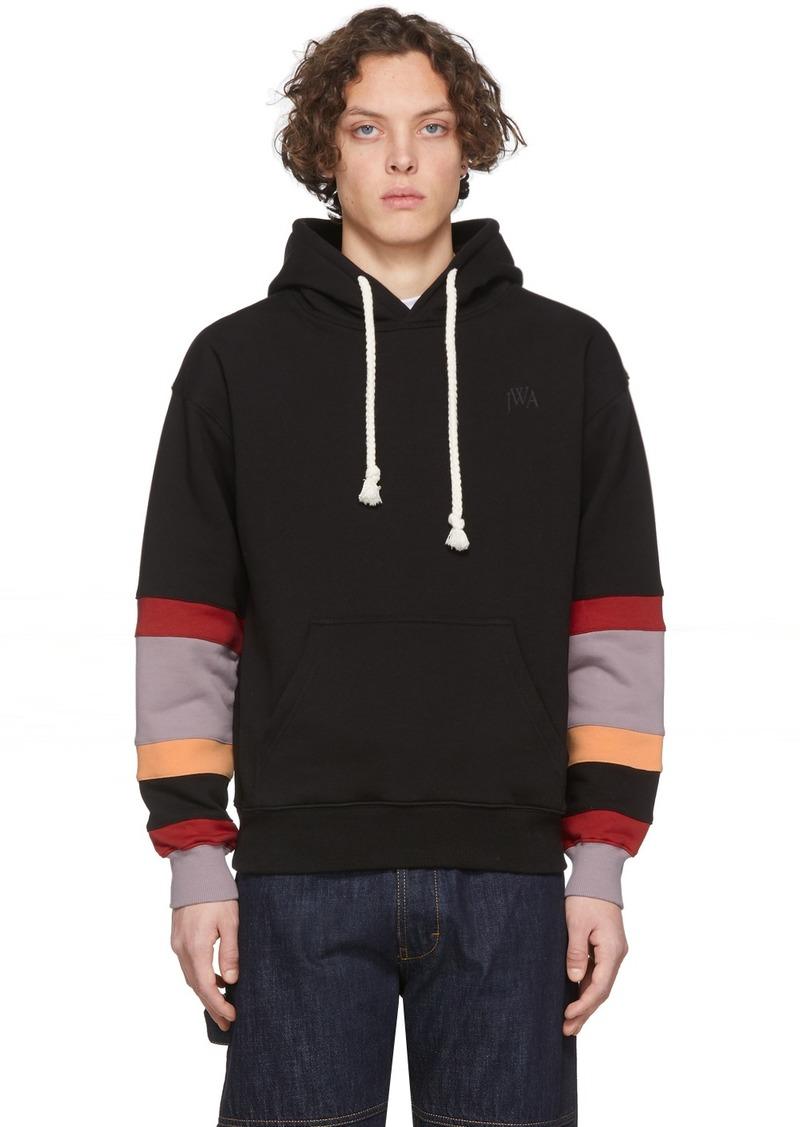 JW Anderson Black Colorblock Sleeves Logo Hoodie