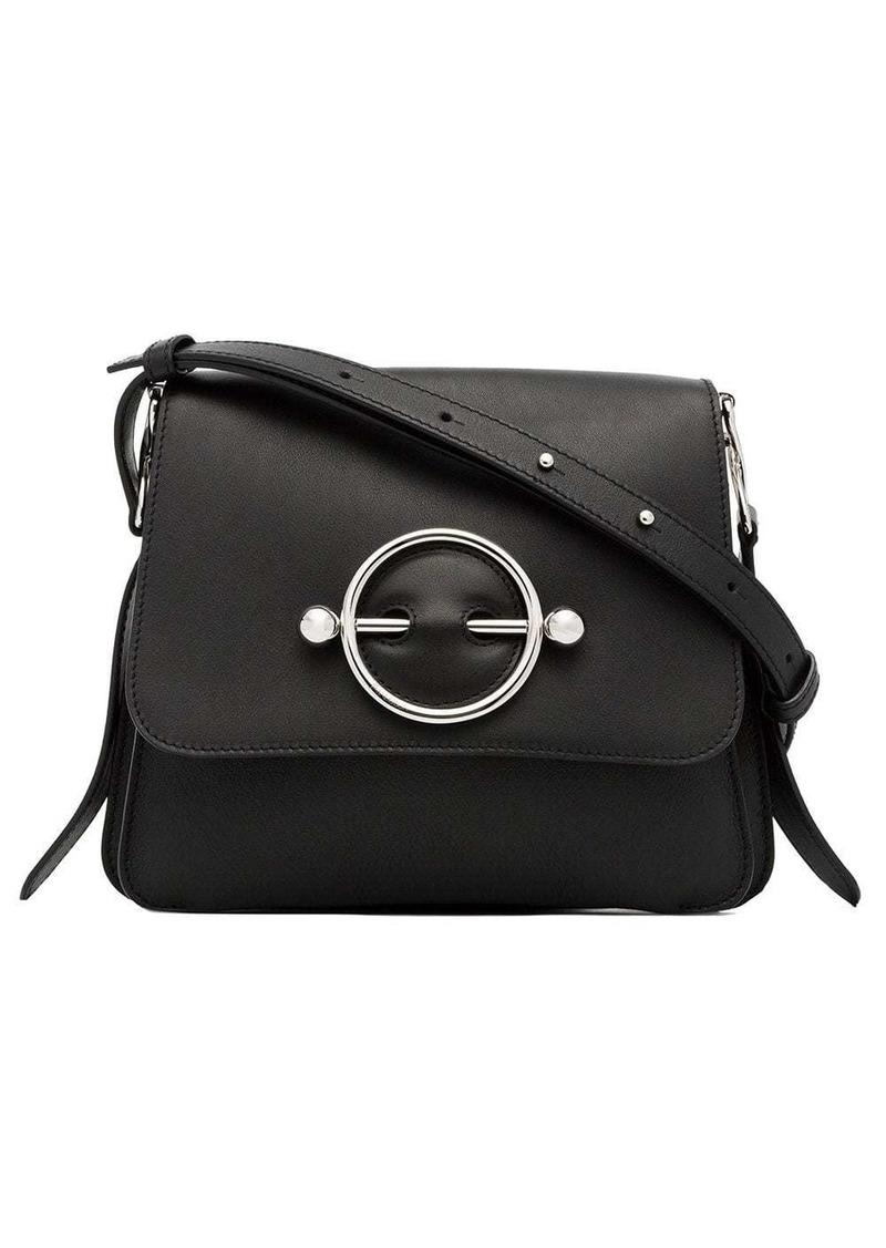 JW Anderson black disc leather cross body bag