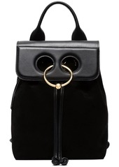 Jw anderson black pierce mini suede backpack abv8a9995f2 a