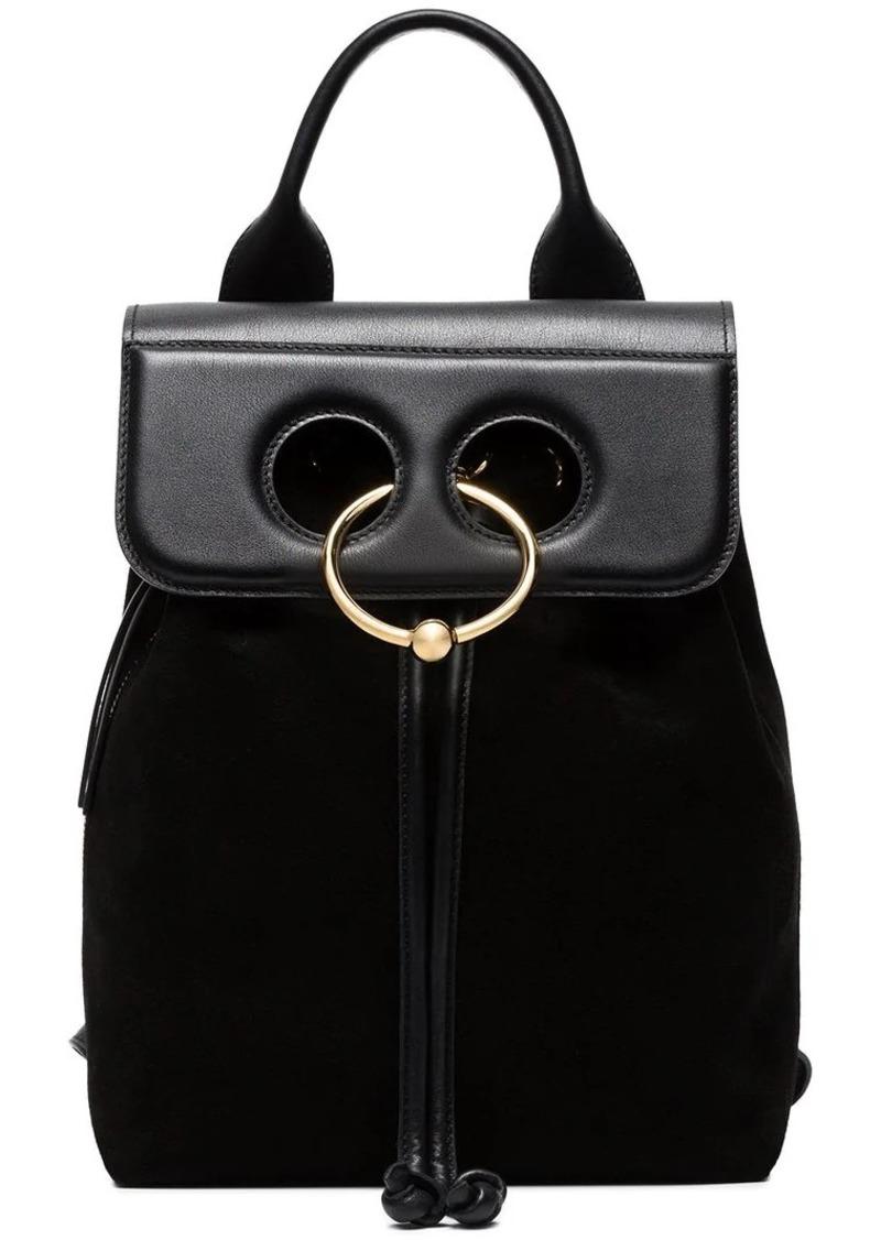 JW Anderson black Pierce Mini Suede backpack