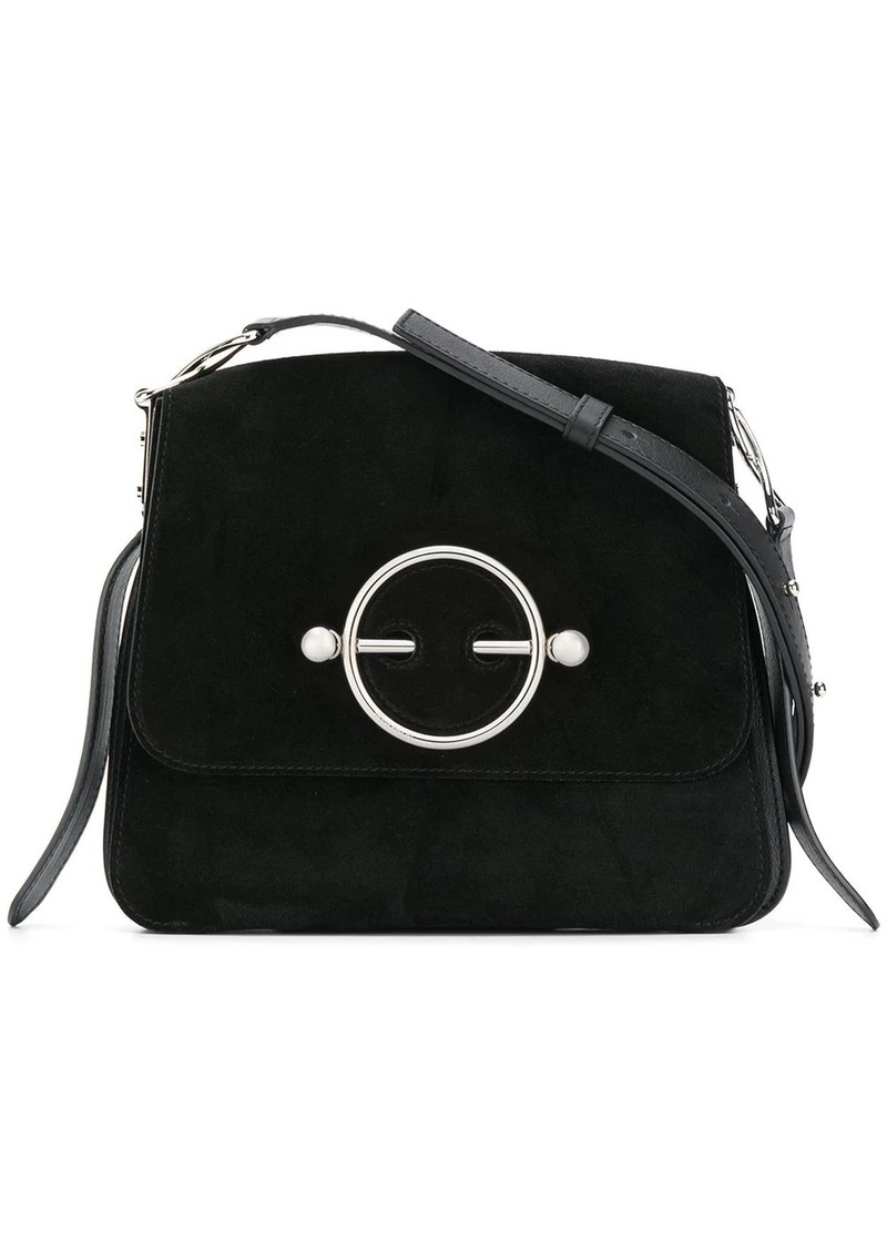 JW Anderson Black Suede Disc Bag