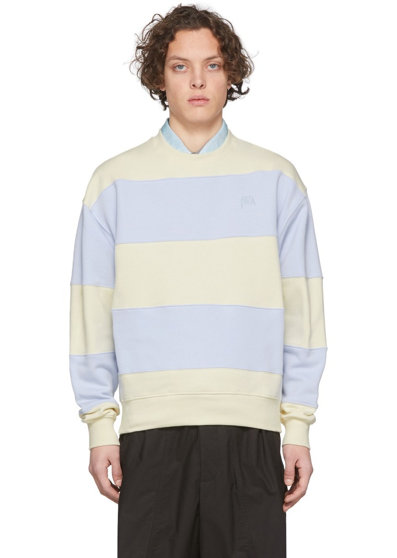 JW Anderson Blue & Off-White Striped Sweatshirt