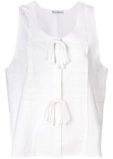 JW Anderson Broderie Anglaise Oversized Tank Top