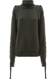JW Anderson cable insert turtle neck jumper