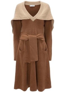 JW Anderson cape detail knitted dress