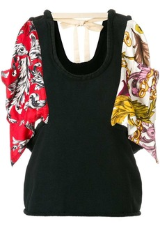 JW Anderson colour-block floral embroidered top