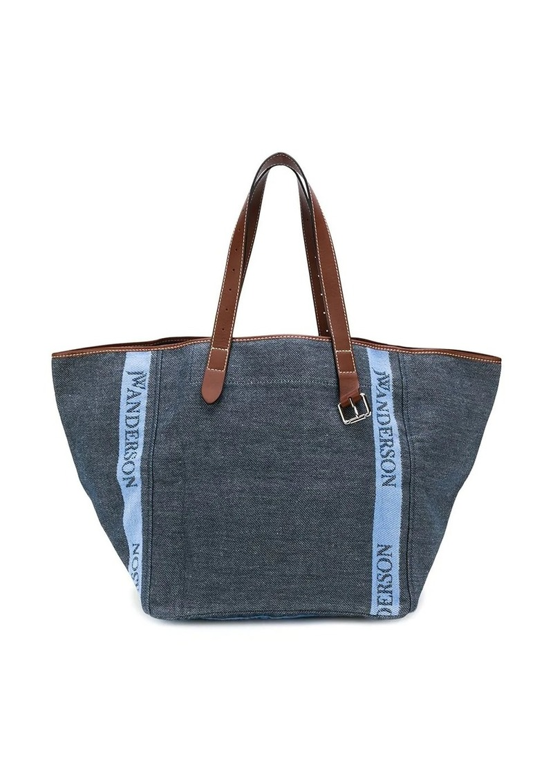 JW Anderson contrast handle shopper bag