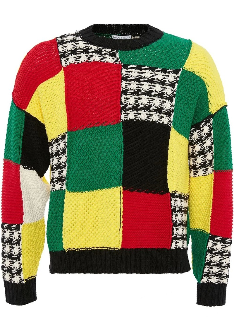 JW Anderson knitted patchwork jumper