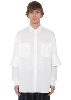 JW Anderson Cotton Poplin Shirt W/ Double Cuffs