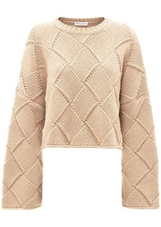 JW Anderson cropped oversized crew neck jumper