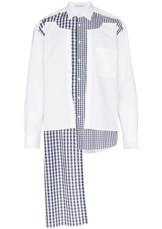 JW Anderson deconstructed gingham panel shirt
