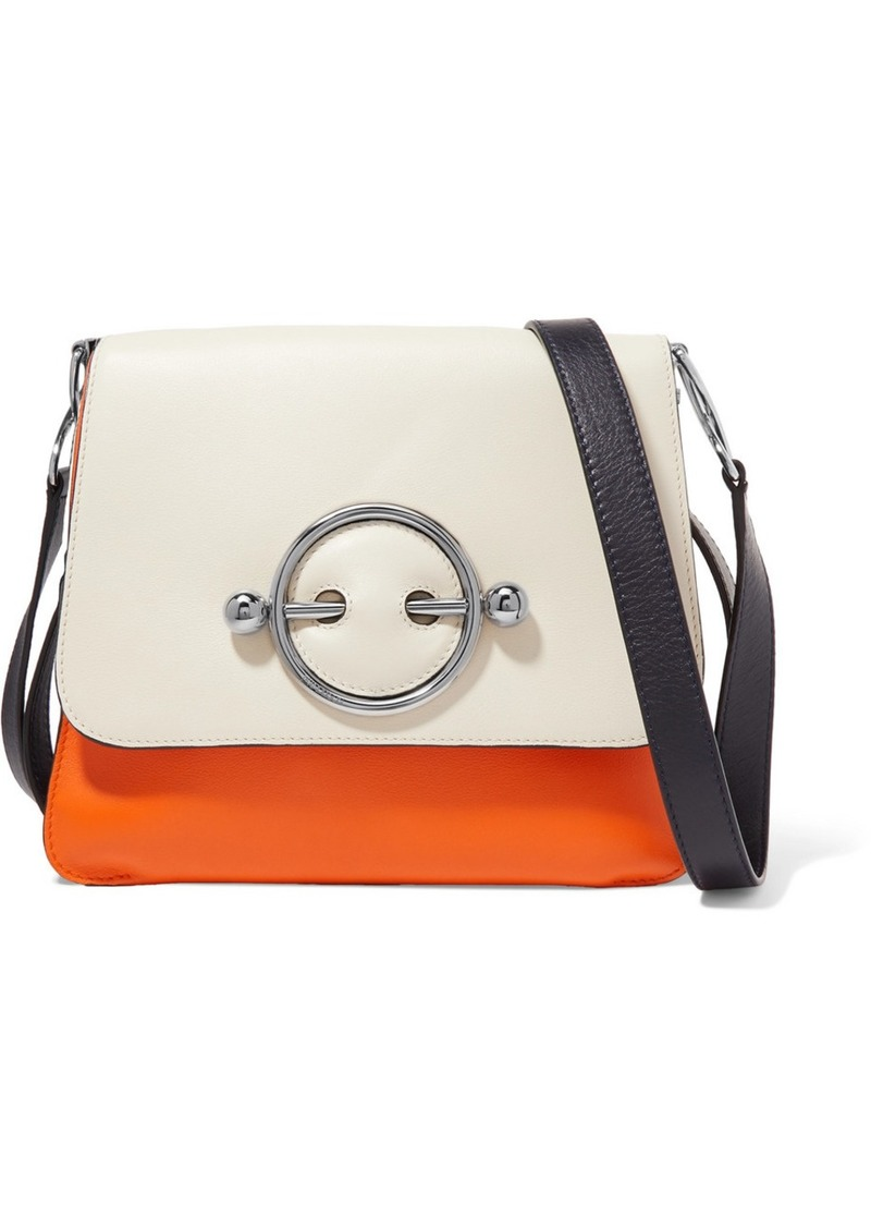 JW Anderson Disc Color-block Leather Shoulder Bag