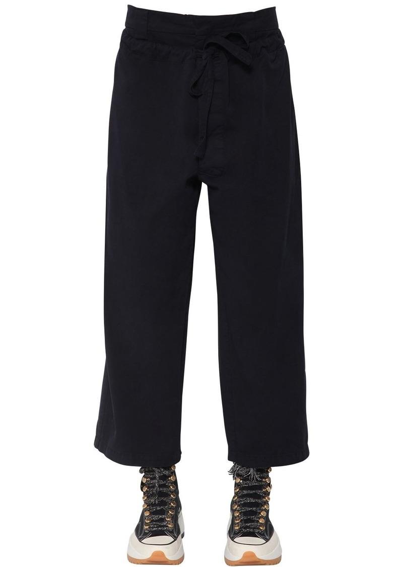 JW Anderson Double Front Flap Cotton Canvas Pants