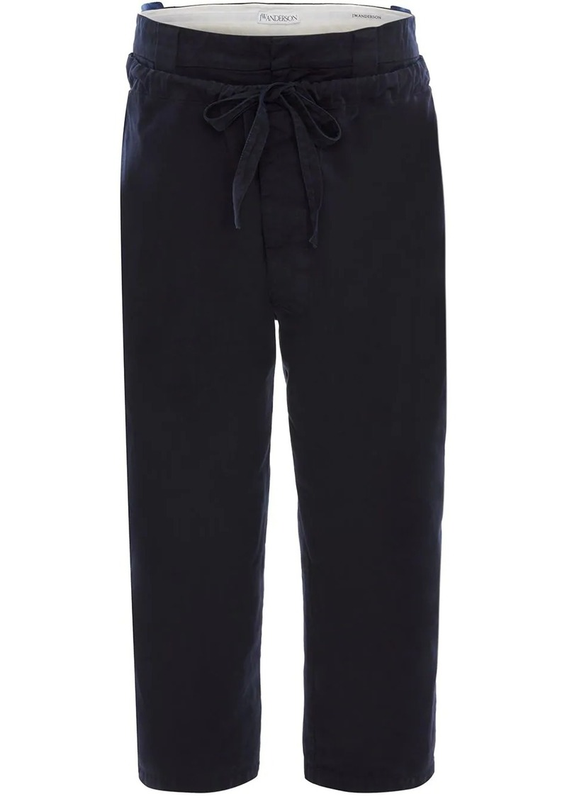 JW Anderson DRAWSTRING DOUBLE FRONT FLAP TROUSERS