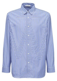 JW Anderson Embroidered Anchor Cotton Poplin Shirt