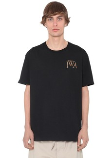 JW Anderson Embroidered Logo Cotton Jersey T-shirt