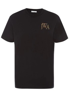 JW Anderson embroidered rainbow logo t-shirt