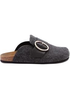 JW Anderson felt loafer mules