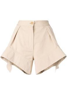 JW Anderson Flax curved hem chino shorts