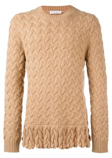 JW Anderson fringe chunky sweater