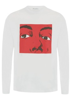 JW Anderson GRAPHIC PRINT LONG SLEEVE T-SHIRT