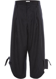 JW Anderson pinstripe bow details trousers