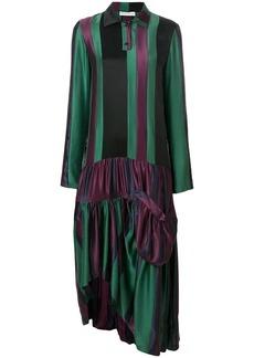 JW Anderson drop-waist hoop skirt panelled dress